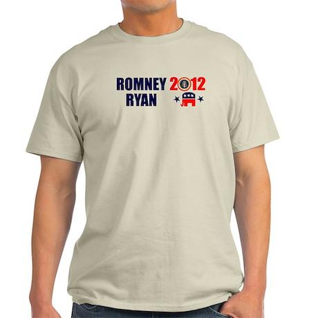 ROMNEY RYAN 2012 BUMPER STICKER Light T-Shirt