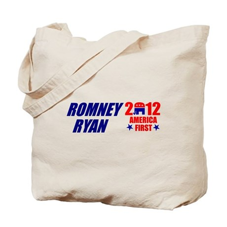 ROMNEY RYAN 2012 SHIRT TEE BUMPER STICKER Tote Bag