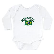Cute Brazil Long Sleeve Infant Bodysuit