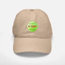 Softball My Game Baseball Baseball Cap