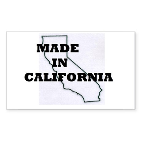MADE IN CALIFORNIA Sticker (Rectangle)