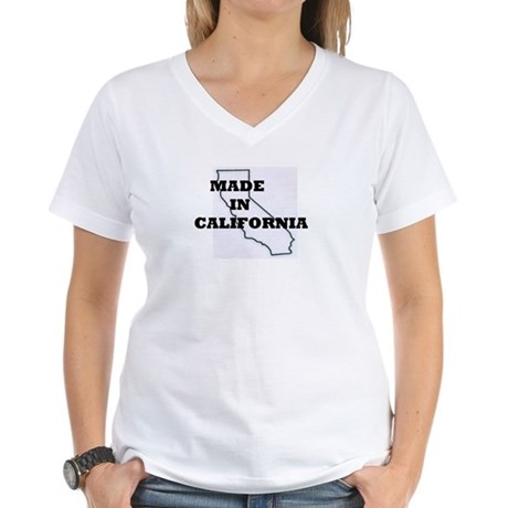 MADE IN CALIFORNIA Women's V-Neck T-Shirt