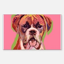 Boxer Dog Rectangle Decal
