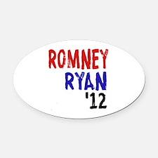 Romney Ryan 2012 Oval Car Magnet