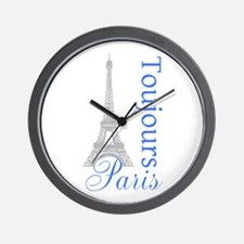 Paris Toujours Wall Clock