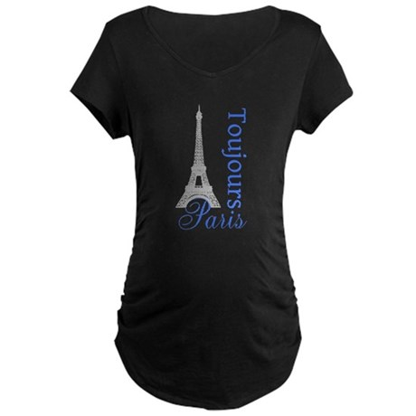 Paris Toujours Maternity Dark T-Shirt