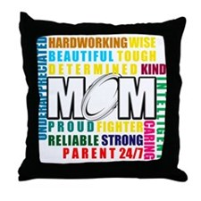 What is a Rugby Mom copy.png Throw Pillow