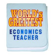 World's Greatest Economics Teacher baby blanket