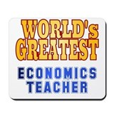 Economics teacher Mouse Pads
