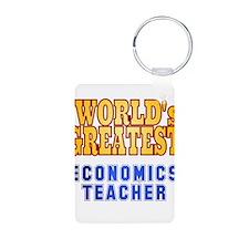 World's Greatest Economics Teacher Keychains