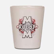 Rugby Mom (cross).png Shot Glass