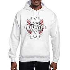 Rugby Mom (cross).png Hoodie