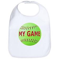 Softball My Game Bib