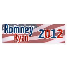 Romney Ryan 2012 Flag Bumper Bumper Sticker Bumper Bumper Sticker