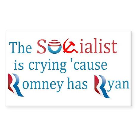 Ryan has socialist crying Sticker (Rectangle)