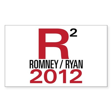 R2 Romney Ryan 2012 Sticker (Rectangle)