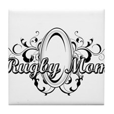 Rugby Mom (ball) copy.png Tile Coaster