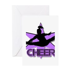 Cheerleader in purple Greeting Card