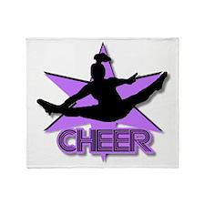 Cheerleader in purple Throw Blanket