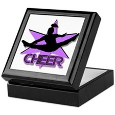 Cheerleader in purple Keepsake Box
