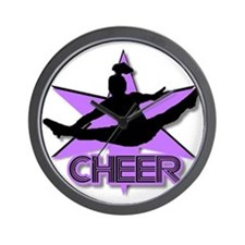 Cheerleader in purple Wall Clock