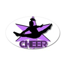 Cheerleader in purple Wall Sticker