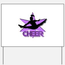 Cheerleader in purple Yard Sign