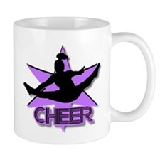 Cheerleader in purple Small Mug