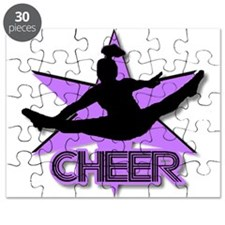 Cheerleader in purple Puzzle