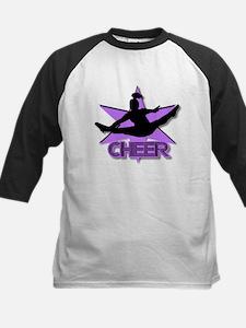 Cheerleader in purple Tee