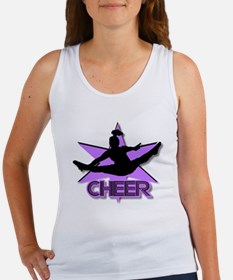 Cheerleader in purple Women's Tank Top