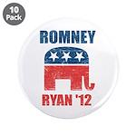 "Romney Ryan 2012 3.5"" Button (10 pack)"
