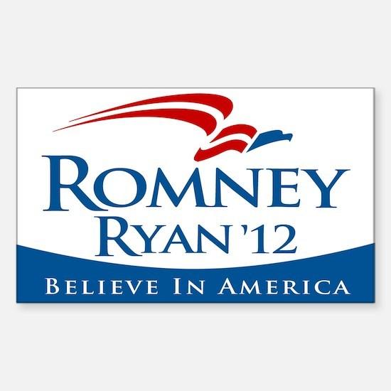 Romney/Ryan 2012 Sticker (Rectangle)