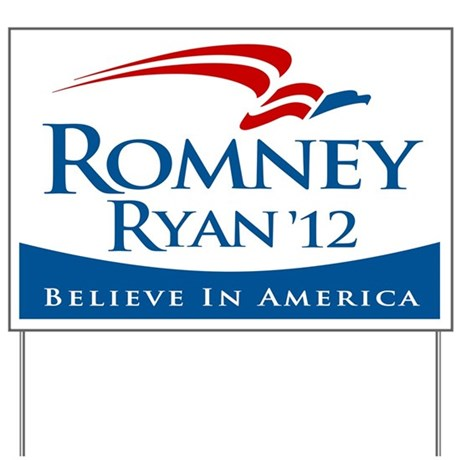 Romney/Ryan 2012 Yard Sign