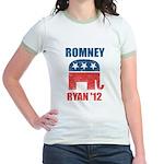 Romney Ryan 2012 Jr. Ringer T-Shirt