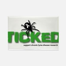 Ticked off about Lyme Disease Rectangle Magnet