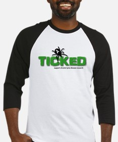 Ticked off about Lyme Disease Baseball Jersey