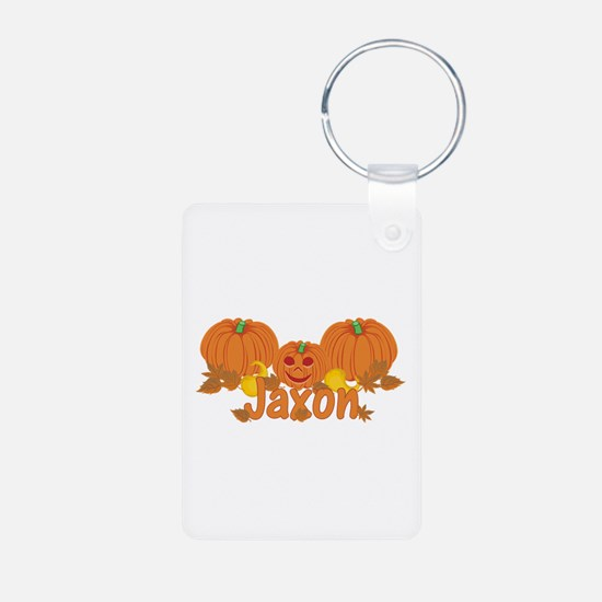 Halloween Pumpkin Jaxon Aluminum Photo Keychain