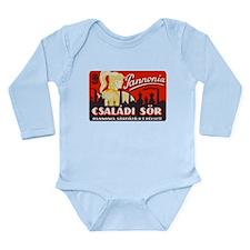 Hungary Beer Label 1 Long Sleeve Infant Bodysuit