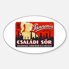 Hungary Beer Label 1 Decal
