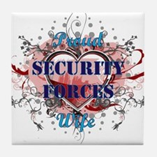 Security Forces Wife Tile Coaster