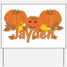 Halloween Pumpkin Jayden Yard Sign