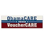ObamaCare vs VoucherCare Sticker (Bumper 10 pk)