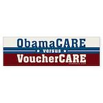 ObamaCare vs VoucherCare Sticker (Bumper)