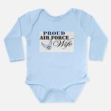 Proud Air Force Wife Long Sleeve Infant Bodysuit
