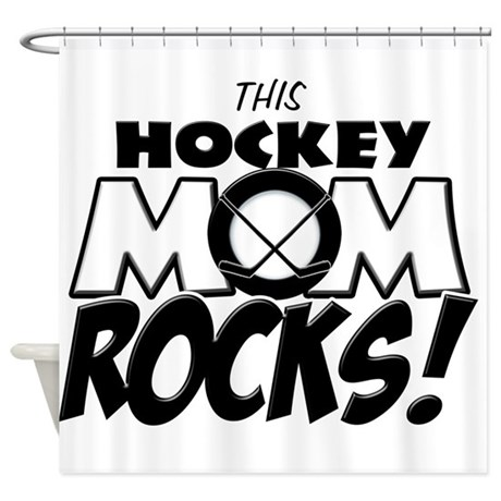 This Hockey Mom Rocks copy.png Shower Curtain