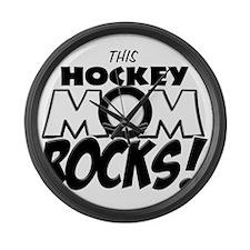 This Hockey Mom Rocks copy.png Large Wall Clock