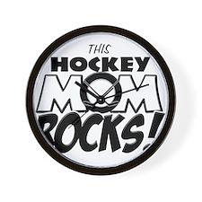 This Hockey Mom Rocks copy.png Wall Clock