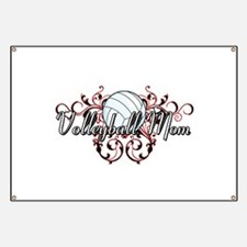 Volleyball Mom (tribal) Banner