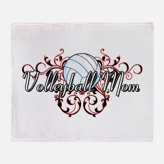 Volleyball Mom (tribal) Throw Blanket